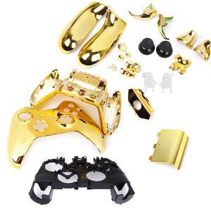 ノーブランド品 Xbox One用 コントローラカバー ケース 交換用 保護カバー 全6色 ゴールデ...
