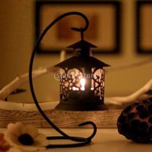 美しい 吊り下げ スタンド 古典 雰囲気 燭台 キャンドルホルダー モロッコ スタイル 黒
