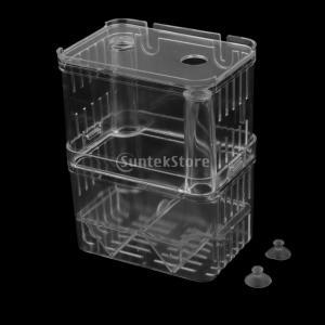 この透明な隔離ボックスは稚魚の繁殖のための最適なツールです。また、稚魚の生存率を向上させるために成魚...