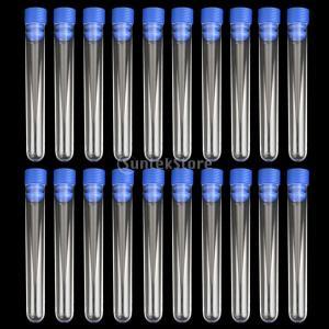ノーブランド品 試験管 研究室 検査用 目盛なし シリンダー 臨床検査用 20個