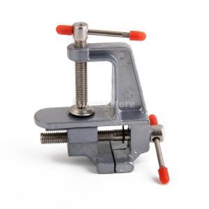 ノーブランド品クラフト用 アルミニウム製 便利 小型 クランプ  万力  テーブルベンチ|stk-shop
