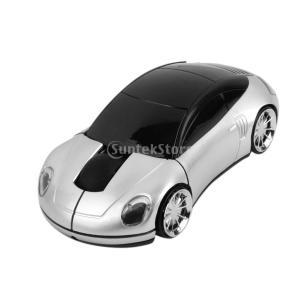 全6色 車型 2.4GHz ワイヤレス 光学式マウス USBレシーバー  - シルバー|stk-shop