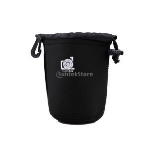 Lightdow DSLR用 ソフト 保護 カメラレンズ ポーチ バッグ ケース 防水 サイズ M|stk-shop