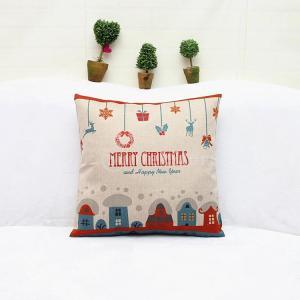 ノーブランド品  高品質 コットンリネン製 枕カバー クッションカバー ピローケース サンタ柄 (カラフル) - #1の写真