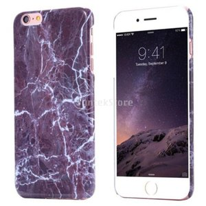 Lovoski  大理石 粒 ハードバック ケース カバー シェル 裏ケースカバー (2サイズ 6色選べる) - 紫, iPhone 6 / 6S