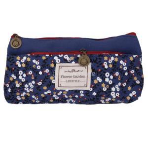 ノーブランド品ノーブランド品 鉛筆 ペンケース ロール ポーチ ブラシホルダ 財布 袋 ァッション ブルー stk-shop