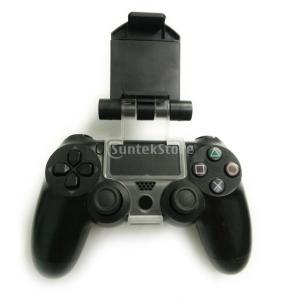 コントローラーゲームパッド用 人間工学 電話クランプマウント ブラケットホルダー Playstation 4 PS4 対応