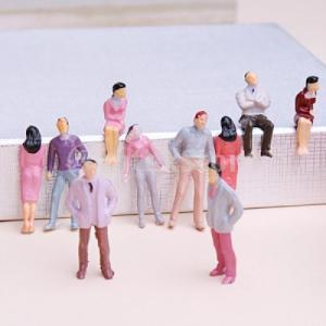 約100体セット 人形 人物 人々 人間 人間フィギュア 塗装人 情景コレクション ザ ・ 鉄道模型・ジオラマ・建築模型・電車模型に 36mm スケール:1/50