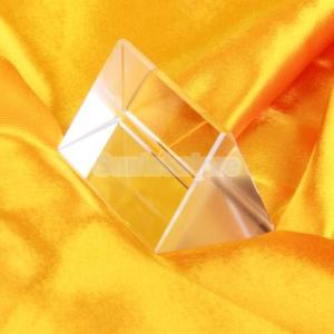 【ノーブランド品】三角プリズム 物理学 光の実...の詳細画像1