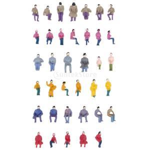 約50体セット 人形 人物 人々 人間 人間フィギュア 塗装人 情景コレクション ザ ・ 鉄道模型・ジオラマ・建築模型・電車模型に  20mm スケール1:87
