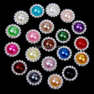 ノーブランド品 ビーズ アクセサリーパーツ ボタン キラキラ 手芸材料 約20個入 (20mm) stk-shop