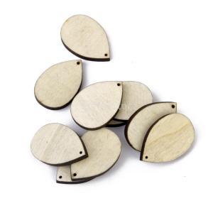 【Phenovo】人気木材チップ 結婚式 パーティー 撮影用 小物 カード 装飾 工芸品 DIY ブランク 水滴状|stk-shop