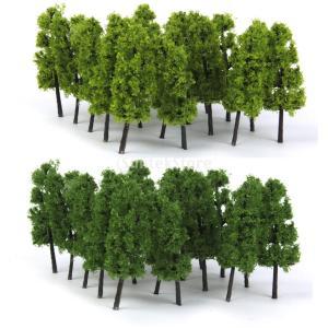 ノーブランド品 樹木 仏塔の木 モデルツリー 20本 鉄道模型 ジオラマ 箱庭 鉄道風景