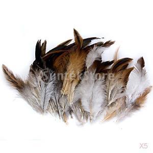 帽子とヘッドギアのインテリアDIYの工芸品.自然のための50個のおんどりコックの羽 stk-shop