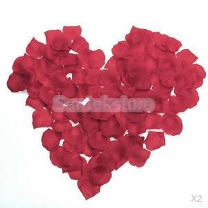 【ノーブランド品】600枚 バラ の花びら フラワーシャワー 結婚式 誕生日 二次会 クリスマス パーティーグッズ お祝い 飾り (レッド)|stk-shop