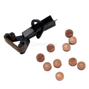革のスヌーカービリヤードキューのヒント+チップクランプの修復ツール上の10個入りの11ミリメートルグルー