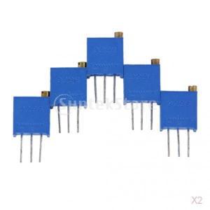 ノーブランド品  10pcs 3ピン 10KΩ 3296W-103 トリマートリムポット ポテンショメータ 半固定ボリューム 抵抗器|stk-shop