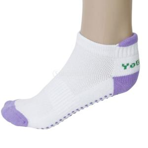 ノーブランド品 2組 お買い得 レディースソックス 婦人用靴下 健康ソックス マッサージ 滑り止めつき ワンサイズ (パープル)