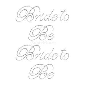 ノーブランド品 セール お買い得 2セット 「Bride to be」ステッカー 独身パーティー テッカー|stk-shop