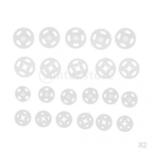ノーブランド品 72セット 手芸用 白色 プラスチック製 スナップボタン ファスナー 10MM48セット入り、14MM24セット入り)|stk-shop