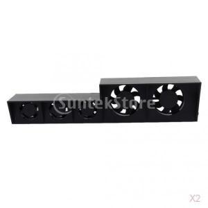 ノーブランド品  2台入り ターボ温度制御 冷却ファン 冷却クーラー USBケーブル Playstation PS4 対応|stk-shop