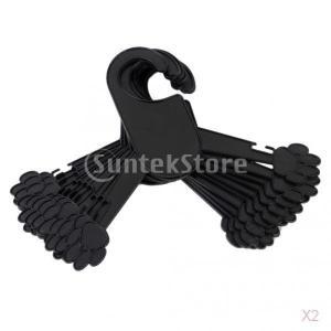 ノーブランド品 20個入り 黒い ペット 洋服ハンガー  洗濯ばさみハンガー  プラスチック製  (M)|stk-shop