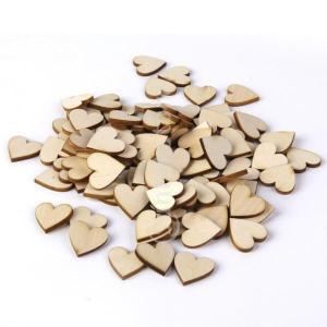 [ノーブランド品]DIYの工芸品40ミリメートル50pcsのためのシナブランク桃の心臓の装飾|stk-shop