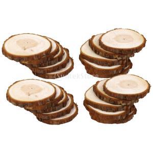 ノーブランド品 20個 DIY 工芸品 結婚式 装飾 6-9cm シダー ウッド 木のスライス 木片 木材 stk-shop