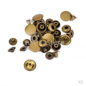 ノーブランド品 20セット 銅 DIY 裁縫用 スナップ ファスナー トーン|stk-shop