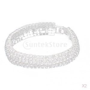 【ノーブランド品】ウェディング 結婚式用 クリスタル ラインストーン ブレスレット|stk-shop