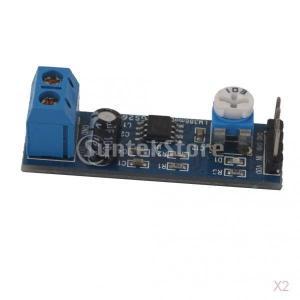 ノーブランド品 2個入り Arduino対応 LM386 200ゲイン オーディオ アンプ モジュール ボード ボリューム調整可能|stk-shop