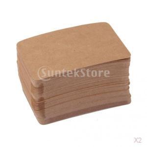 ノーブランド品 約200枚 クラフト 紙製 無地 カード 荷札 値札 ラベル タグ メモ用 2色選べる - ブラウン|stk-shop