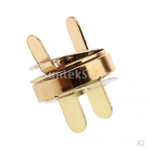 24セット ボタン DIY クラフト ゴールド 14mm 磁気 スナップ ファスナー 縫製ボタン 留め金 stk-shop