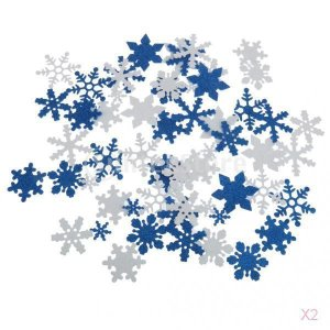 SONONIA 100pcs 混合色 泡 キラキラ 雪の結晶 DIY クラフト 装飾品 クリスマス 窓 壁飾り|stk-shop