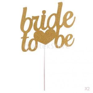 2個入り ゴルード 【Bride To Be】 結婚式 装飾 アクセサリー  ケーキトッパー  デザイトトッパー|stk-shop