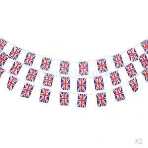 ノーブランド品 セール お買い得 2×30個 10メートル 3種 国旗/フラグ ガーランド ホオジロバナー/花輪 屋外 庭の装飾 - イギリス|stk-shop