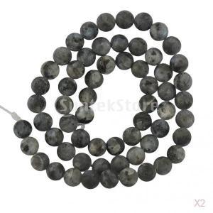 SONONIA セール お買い得 2連 6ミリメートル 灰長石 黒 ラウンドの宝石 ルースビーズ 15インチ stk-shop
