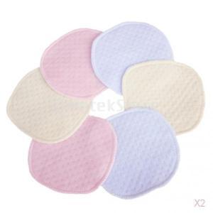 SONONIA 防水 育児 母乳パッド 3層 コーマ 綿 再利用可能 吸収性 選択可能 12枚|stk-shop