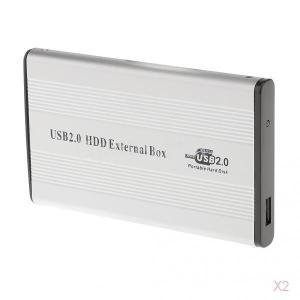 ノーブランド品 2セット USB2.0  IDE外部 2.5イン SSD HDD ハードドライブケー...