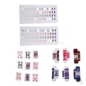 SONONIA 4セット 1/12 人形の家 ドールハウス ミニチュア ポーカー 装飾 ギフト stk-shop