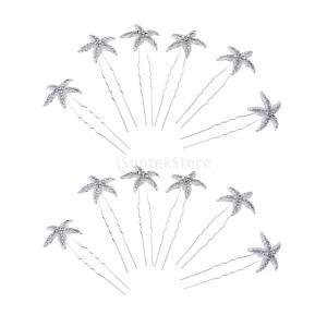 SONONIA 耐久性 実用 12個 花嫁/結婚式 ヒトデ クリスタル ヘアピン ヘアアクセサリー ヘッドピース|stk-shop