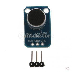 SONONIA 2個 エレクトレット マイク増幅器 MAX4466 モジュール 調整可能 ブレイクアウト