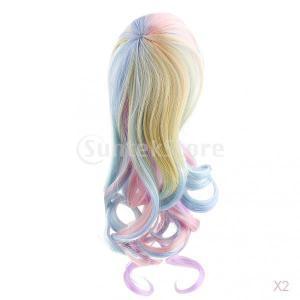 1/6ブライス人形#3の甘いファンタジーの夢波状巻き毛のかつらヘアピース stk-shop