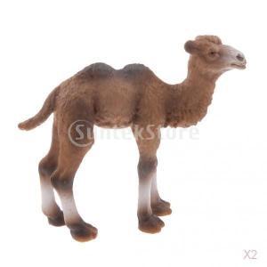 説明: 現実的な少しキャメル/野生動物園の動物モデルのアクションフィギュアの子供のおもちゃのギフトリ...