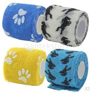 猫の犬のペット粘着包帯ガーゼテープ医療ラップ爪が青印刷します|stk-shop