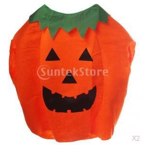 ノーブランド品  2ペア パンプキン かぼちゃ ジャックオランタン 提灯 キッズ用 コスプレ 仮装 ...