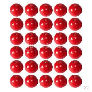 ノーブランド品 お買い得 / セール 100個 10ミリメートル 赤い 丸い 木製のビーズ DIY 宝石類 ネックレス クラフトアクセサリー ジュエリー作り stk-shop