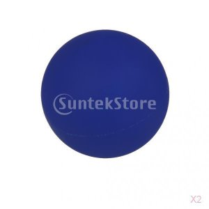 SONONIA 2個 お買い得 手のひら 足 腕 首 背中 足首 ジム ホーム 運動療法 マッサージボール ラクロスマッサージボール ブルー stk-shop