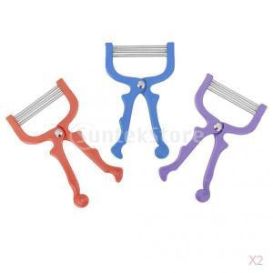 SONONIA 2個 お買い得 顔 エピ 脱毛器 スレッド セーフ ハンド ヘルド 顔フェイシャル 脱毛 ローラー ランダムな色|stk-shop