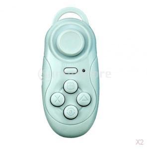 ノーブランド品  2個入り ワイヤレス Bluetoothリモート ゲームパッドコントローラ  iPhone Samsung 対応|stk-shop